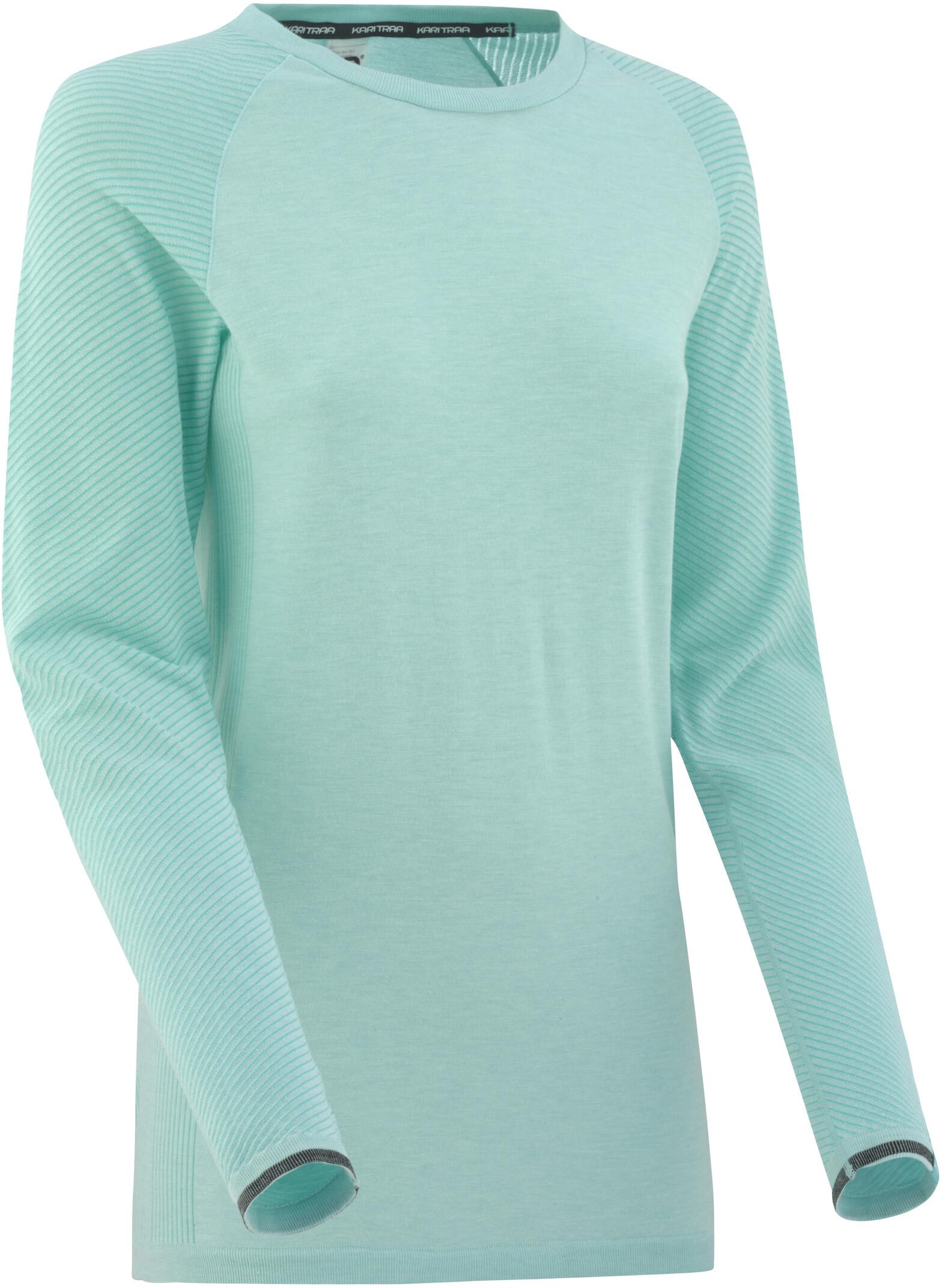 f30ca34fb7f Kari Traa Eva - T-shirt manches longues Femme - turquoise sur CAMPZ !